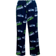 Concepts Sports Mens's Seattle Seahawks Navy Wildcard Fleece Pants