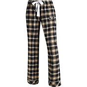Concepts Sport Women's Colorado Buffaloes Black/Gold Captivate Plaid Sleep Pants