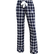 Concepts Sport Women's UConn Huskies Blue/Grey Captivate Plaid Sleep Pants