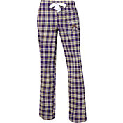 Concepts Sport Women's East Carolina Pirates Purple/Gold Captivate Plaid Sleep Pants