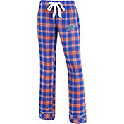 Concepts Sport Women's Florida Gators Blue/Orange Captivate Plaid Sleep Pants