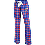 Concepts Sport Women's Kansas Jayhawks Blue/Crimson Captivate Plaid Sleep Pants