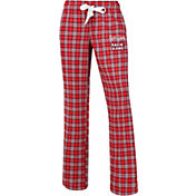 Concepts Sport Women's Louisiana-Lafayette Ragin' Cajuns Red/Black Captivate Plaid Sleep Pants