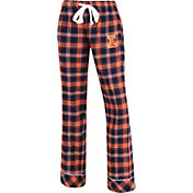 Concepts Sport Women's Illinois Fighting Illini Blue/Orange Captivate Plaid Sleep Pants