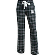 Concepts Sport Women's Michigan State Spartans Green/Black Captivate Plaid Sleep Pants