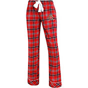 Concepts Sport Women's Maryland Terrapins Red/Black Captivate Plaid Sleep Pants