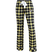 Concepts Sport Women's Missouri Tigers Black/Gold Captivate Plaid Sleep Pants