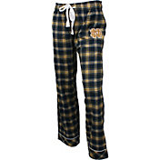 Concepts Sport Women's Notre Dame Fighting Irish Navy/Gold Captivate Plaid Sleep Pants