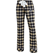 Concepts Sport Women's Purdue Boilermakers Black/Old Gold Captivate Plaid Sleep Pants