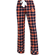 Concepts Sport Women's Syracuse Orange Blue/Orange Captivate Plaid Sleep Pants