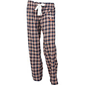 Concepts Sport Women's Virginia Cavaliers Blue/Orange Captivate Plaid Sleep Pants