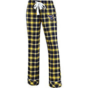Concepts Sport Women's West Virginia Mountaineers Blue/Gold Captivate Plaid Sleep Pants