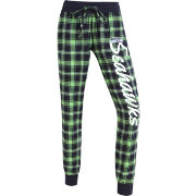 Concepts Sports Women's Seattle Seahawks Green/Navy Flannel Jogger Pants