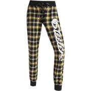 Concepts Sports Women's Pittsburgh Steelers Black/Gold Flannel Jogger Pants