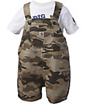 Carhartt Infant Boys' Tan Camo Shortall Set