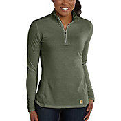 Carhartt Women's Force Performance Quarter Zip Shirt