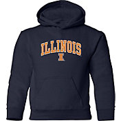 Old Varsity Brand Youth Illinois Fighting Illini Navy Layer Hoodie