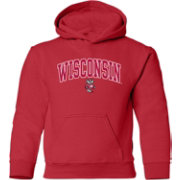 Old Varsity Brand Youth Wisconsin Badgers Red Layer Hoodie
