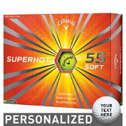 Callaway Superhot 55 Yellow Personalized Golf Balls