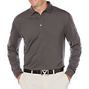 Callaway Men's Performance Heathered Long Sleeve Golf Polo