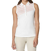 Callaway Women's Placed Print Sleeveless Golf Polo