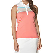 Callaway Women's Bold Panel Sleeveless Golf Polo