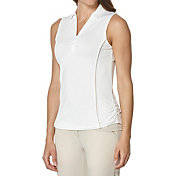 Callaway Women's Mesh & Contrast Sleeveless Golf Polo