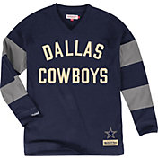 Mitchell & Ness Men's Dallas Cowboys Field Goal Navy Long Sleeve Shirt