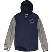 Mitchell & Ness Men's Dallas Cowboys Hooded Navy Long Sleeve Shirt