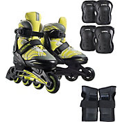 DBX Boys' Equinox Adjustable Inline Skate Package