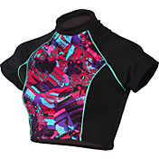 Dolfin Women's Bellas Crop Short Sleeve Rash Guard