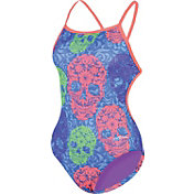 Dolfin Women's Bellas Sugar Skulls Cross Back Swimsuit