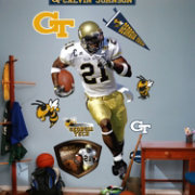 Fathead Calvin Johnson Georgia Tech Yellow Jackets Wall Decal