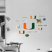 Fathead Miami Hurricanes Team Logo Assortment Wall Graphic