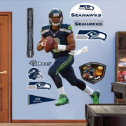 Fathead Russell Wilson #3 Seattle Seahawks Real Big Wall Graphic