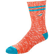 For Bare Feet Miami Dolphins Alpine Socks