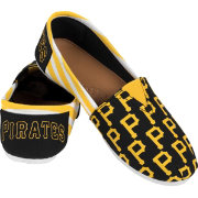 Forever Collectibles Women's Pittsburgh Pirates Stripe Canvas Shoes