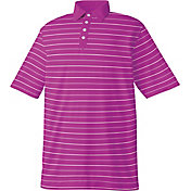 FootJoy Men's Lisle Stripe Solid Placket Golf Polo