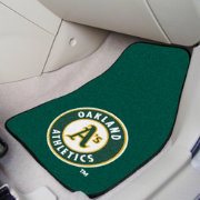 Oakland Athletics Printed Car Mats 2-Pack