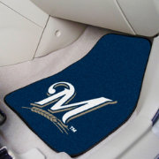 FANMATS Milwaukee Brewers Printed Car Mats 2-Pack