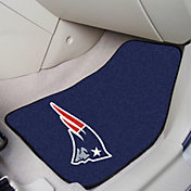 FANMATS New England Patriots 2-Piece Printed Carpet Car Mat Set