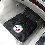 FANMATS Pittsburgh Steelers 2-Piece Heavy Duty Vinyl Car Mat Set