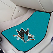 San Jose Sharks Two Piece Printed Carpet Car Mat Set