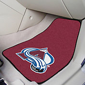Colorado Avalanche Two Piece Printed Carpet Car Mat Set