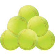 First Practice Contact-Soft Practice Softballs - 6 Pack