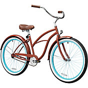 Firmstrong Women's 26'' Brick n' Blue Single Speed Beach Cruiser Bike