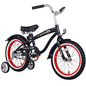 Firmstrong Boys' 16'' Mini Bruiser Single Speed Beach Cruiser Bike with Training Wheels