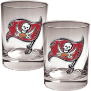 Great American Products Tampa Bay Buccaneers 2-Piece Logo Rocks Glass Set