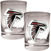 Great American Products Atlanta Falcons 2-Piece Logo Rocks Glass Set