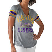 G-III For Her Women's LSU Tigers Grey Any Sunday T-Shirt